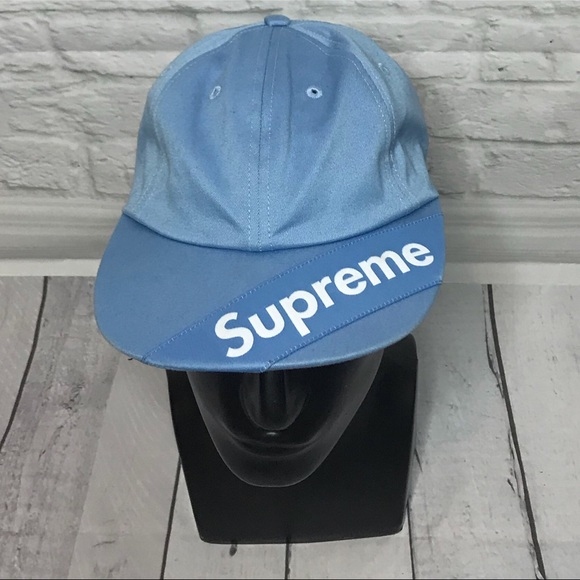 b3b6fb82 Supreme Accessories | Visor Label 6 Panel Dad Hat Light Blue | Poshmark